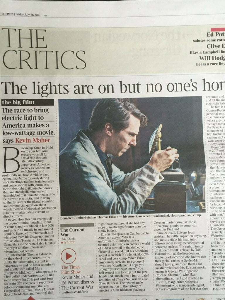 Times 2 Arts July 2019: TOM CRUISE (Top Gun) Benedict Cumberbatch Leonard Cohen