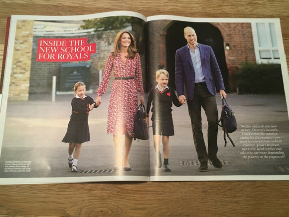 TIMES magazine 21 Sept 2019: RENEE ZELLWEGER Judy Garland KATE MIDDLETON