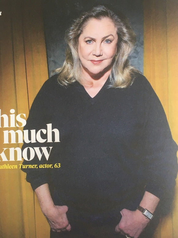UK Observer Magazine APRIL 2018: KATHLEEN TURNER DAVID MORRISSEY