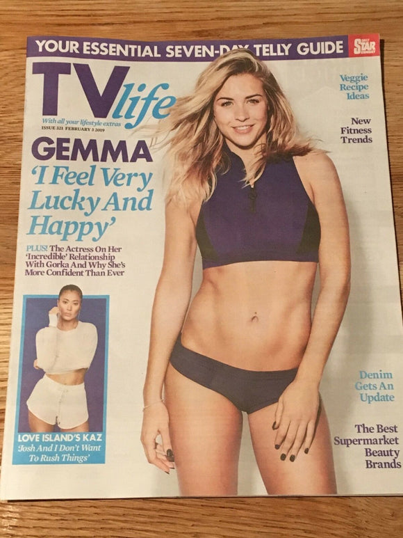 TV Life Magazine Feb 2019: GEMMA ATKINSON Philip Glenister KAZ CROSSLEY