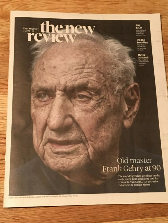 UK Observer New Review FEB 2019: FRANK GEHRY Graciela Iturbide JOAN BAEZ