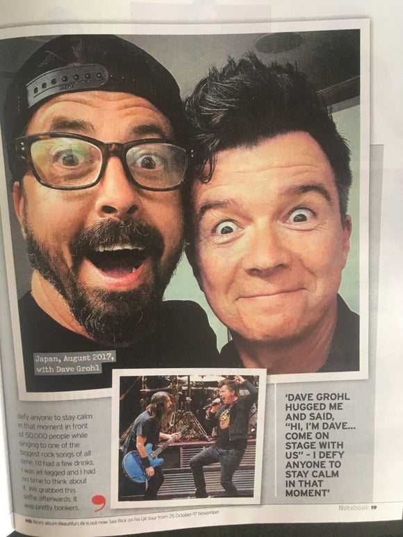UK Notebook Magazine August 2018: LARRY & GEORGE LAMB Rick Astley DAVE GROHL