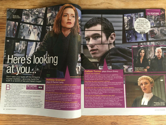 SATURDAY Mag 08/2019: IMELDA STAUNTON Callum Turner RAY BROOKS Holliday Grainger