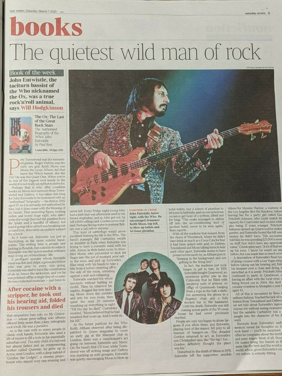 TIMES REVIEW supplement March 2020: JOHN KRANSINKSKI John Entwistle THE WHO