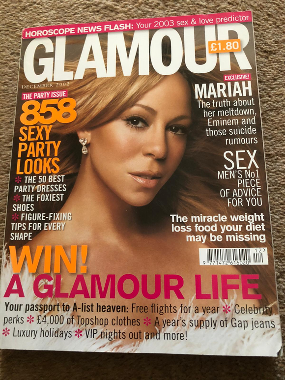British GLAMOUR December 2002 MARIAH CAREY COVER