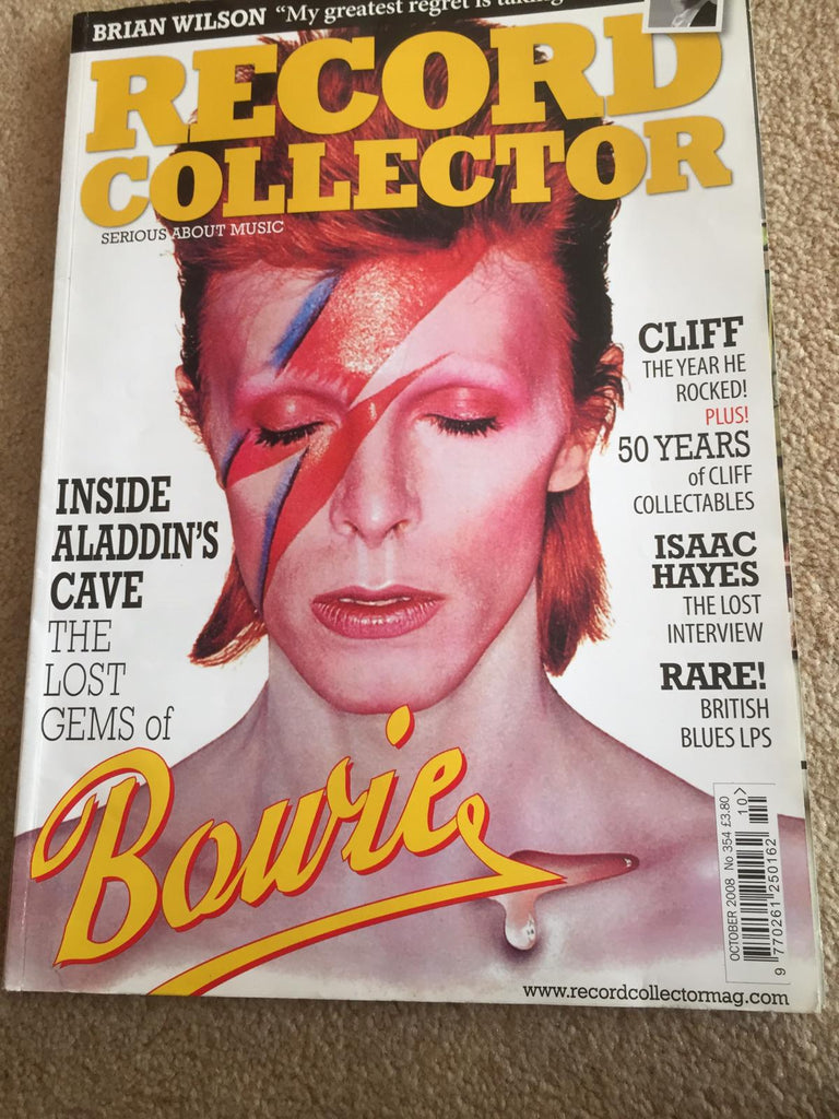 RECORD COLLECTOR MAGAZINE ~ OCTOBER 2008 DAVID BOWIE CLIFF RICHARD