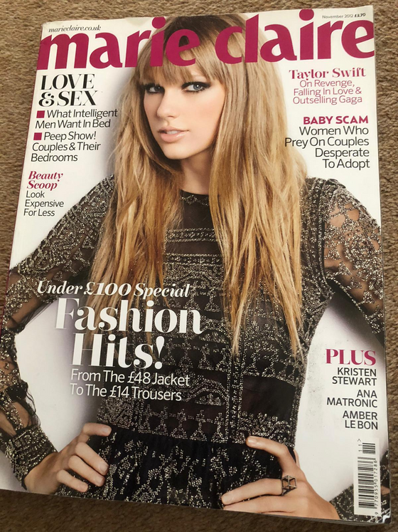 Marie Claire FULL SIZE Magazine TAYLOR SWIFT November 2012