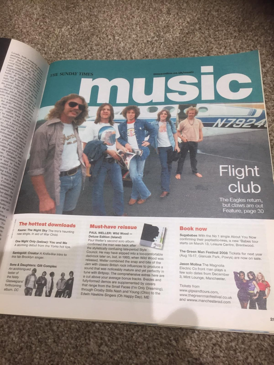 UK CULTURE Magazine October 28 2007 The Eagles Interview