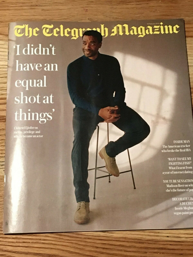 UK Telegraph Magazine Feb 2019: MADISON BEER PHOTO INTERVIEW - Chiwetel Ejiofor