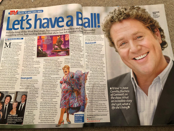 UK TV Times Magazine 14 August 2010 Michael Ball Stephen Tompkinson