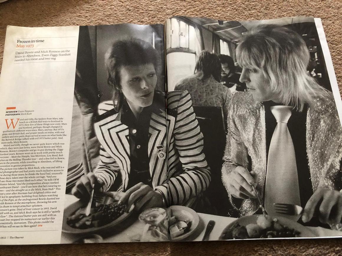 Observer Food Monthly Magazine August 2011 David Bowie