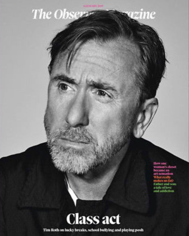 UK Observer Magazine JAN 2019: TIM ROTH COVER STORY - FELICITY KENDAL