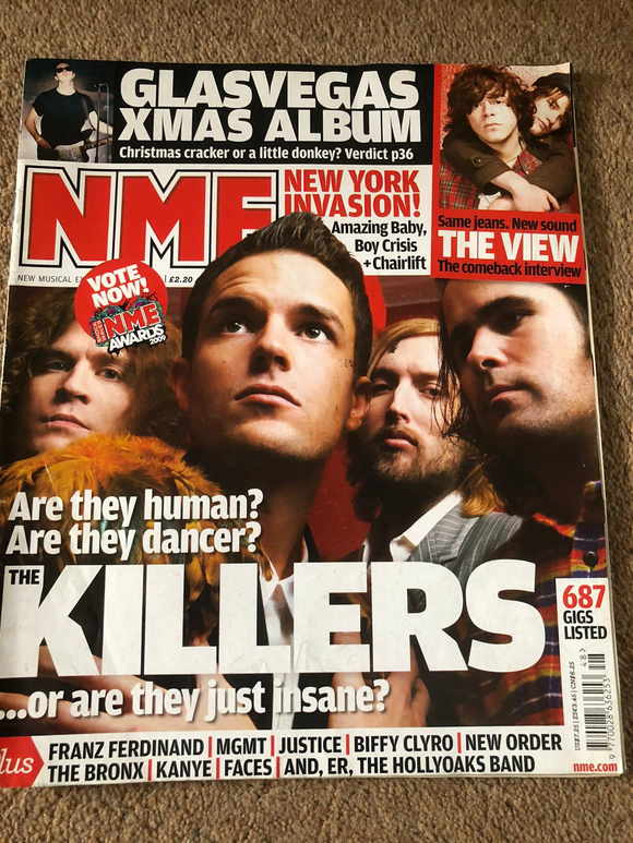 NME Magazine The Killers Brandon Flowers Cover