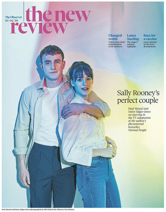 UK OBSERVER REVIEW 04/2020: NORMAL PEOPLE Daisy Edgar-Jones PAUL MESCAL