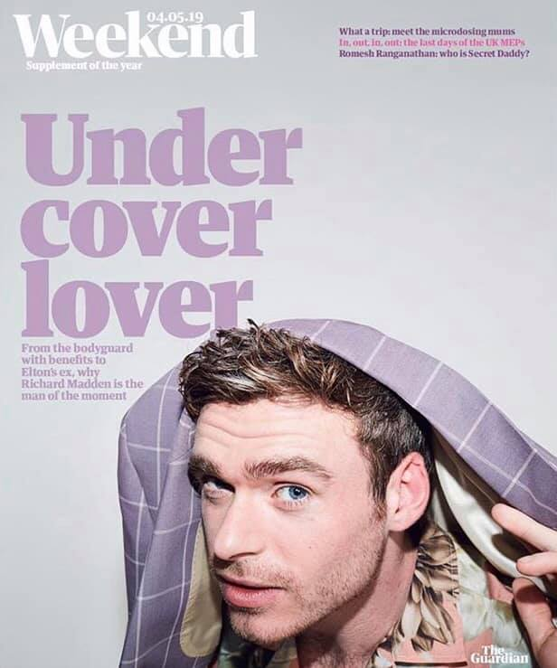 UK Guardian Weekend Magazine May 2019: Richard Madden Cover and Feature
