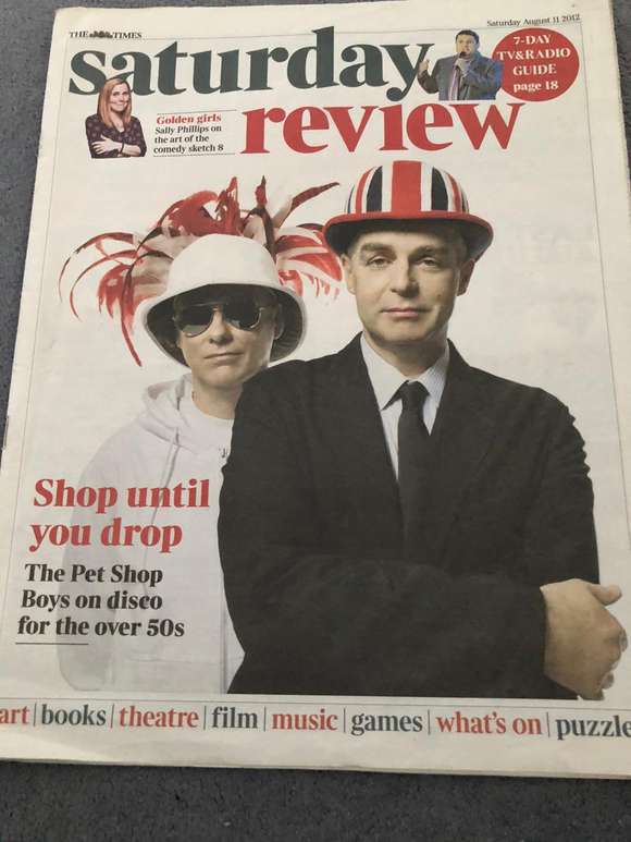 UK Times Review August 11 2012: Pet Shop Boys Neil Tennant