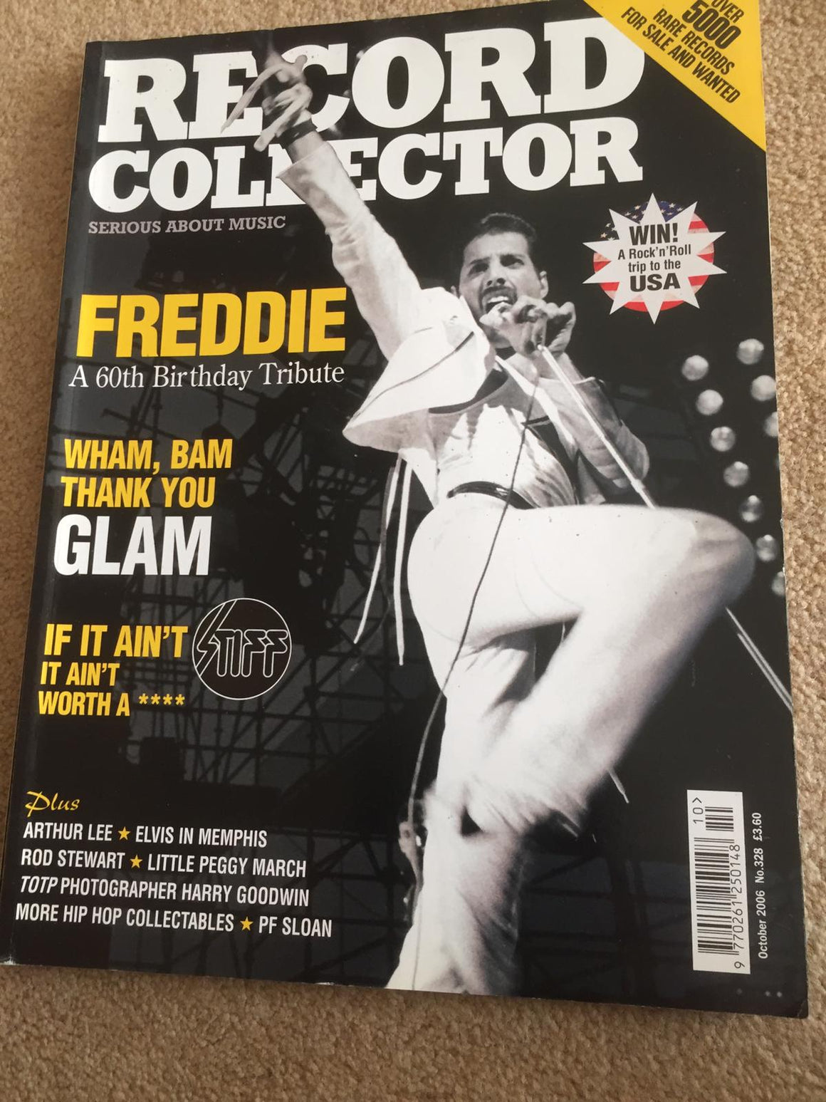 Record Collector : OCTOBER 2006 No. 328 : FREDDIE MERCURY - A 60th Birthday Tribute