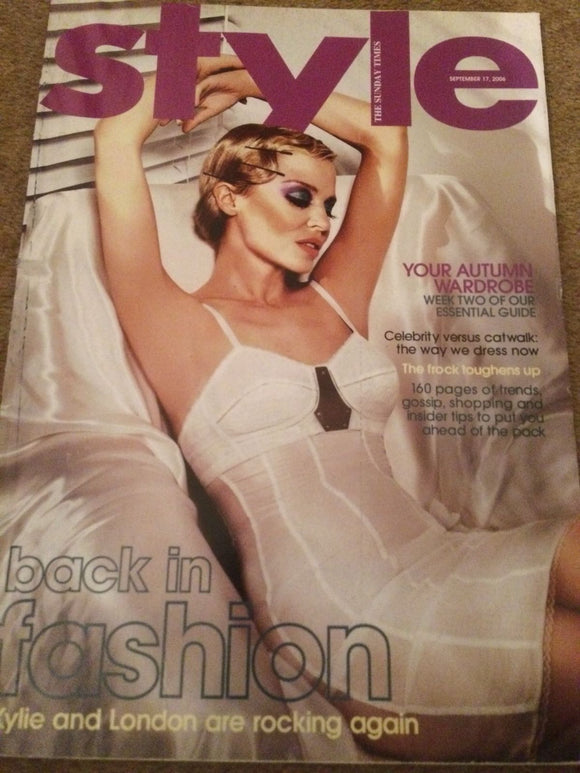 UK Style Magazine September 17 2006 Kylie Minogue Cover Story