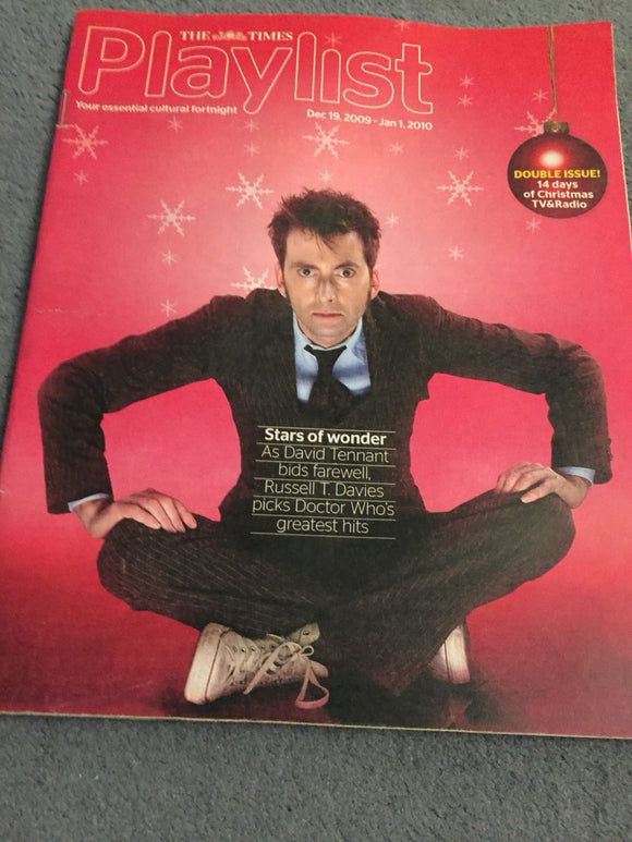 UK Playlist Magazine December 2009 David Tennant Doctor Who Rare Cover