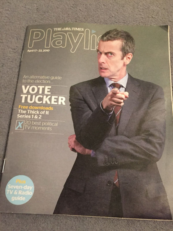 Playlist magazine - Peter Capaldi cover (17 April 2010)