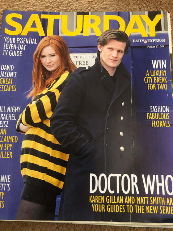 Saturday Magazine August 2011 Matt Smith Karen Gillan Doctor Who