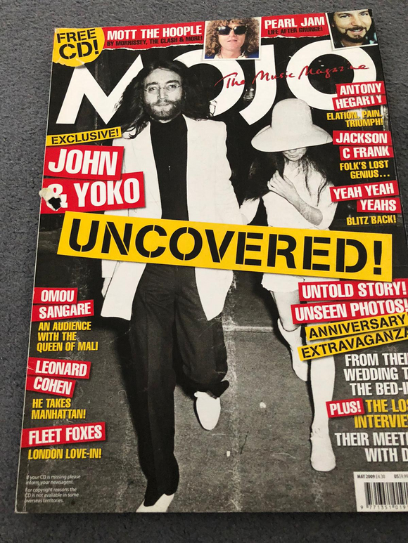 UK Mojo Magazine May 2009 The Beatles John Lennon Pearl Jam