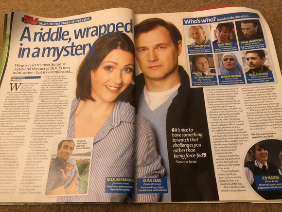TV TIMES Magazine 2010: Suranne Jones David Morrissey
