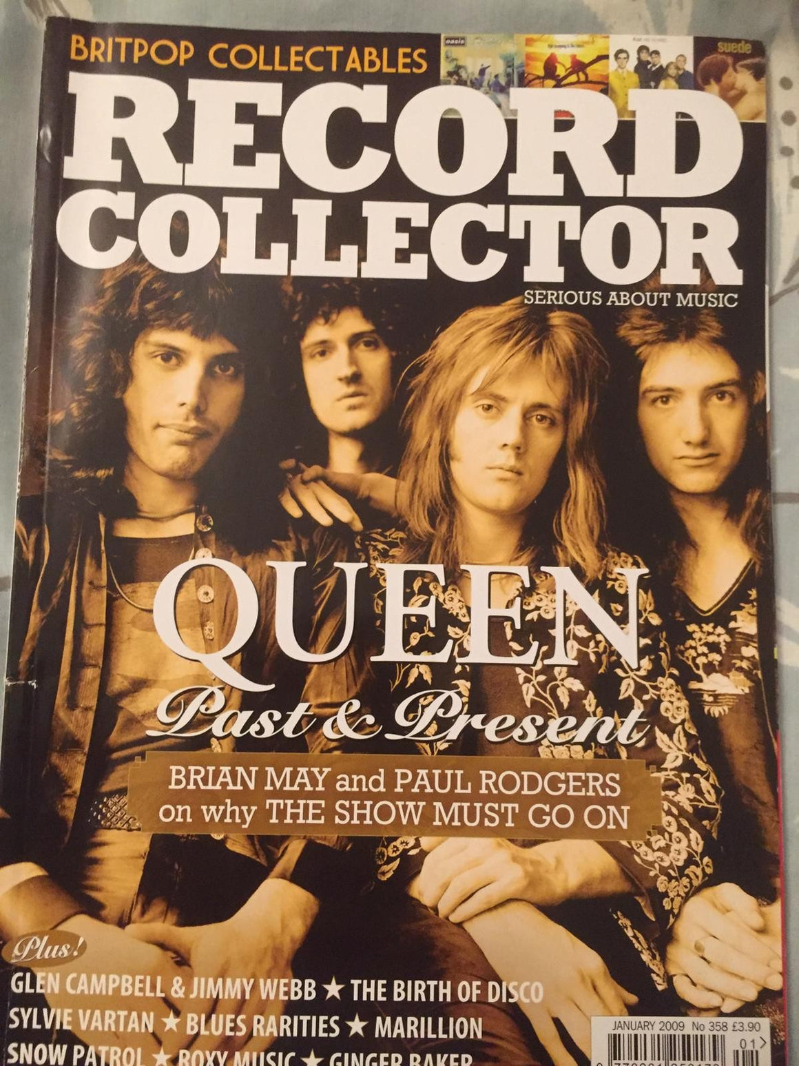 RECORD COLLECTOR MAGAZINE #358 JANUARY 2009: Queen (Freddie Mercury)