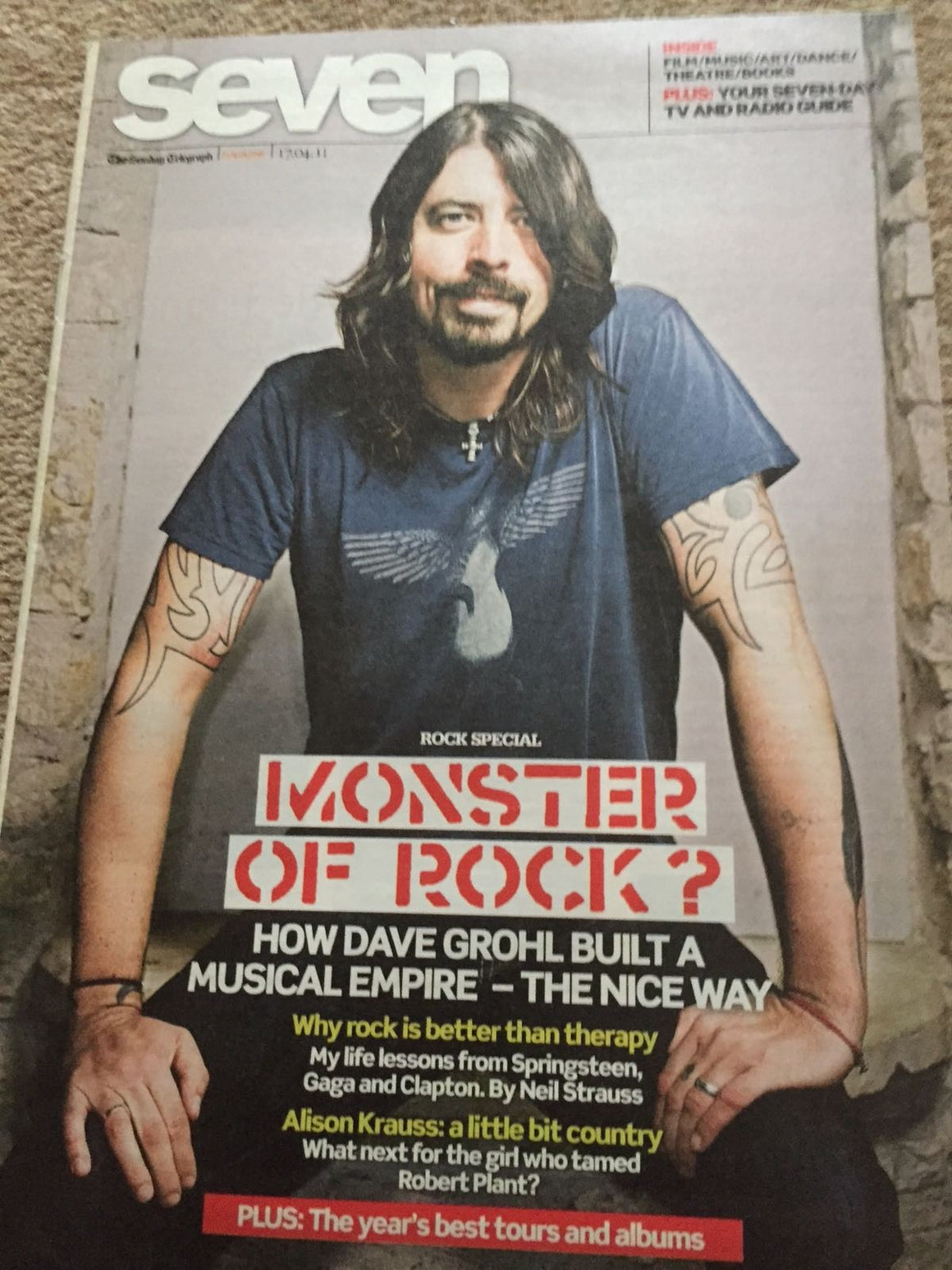 UK Seven Magazine 2011: Dave Grohl - The Foo Fighters Cover Interview
