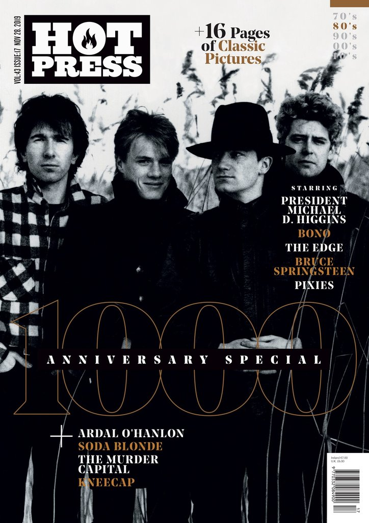 HOT PRESS 43-17: THE 1000TH ISSUE SPECIAL - U2 Cover