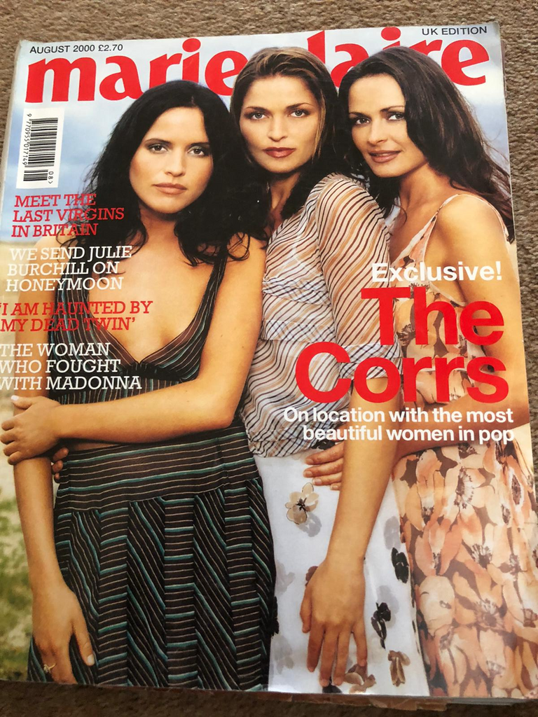MARIE CLAIRE UK August 2000 THE CORRS Jean-Michel Basquiat