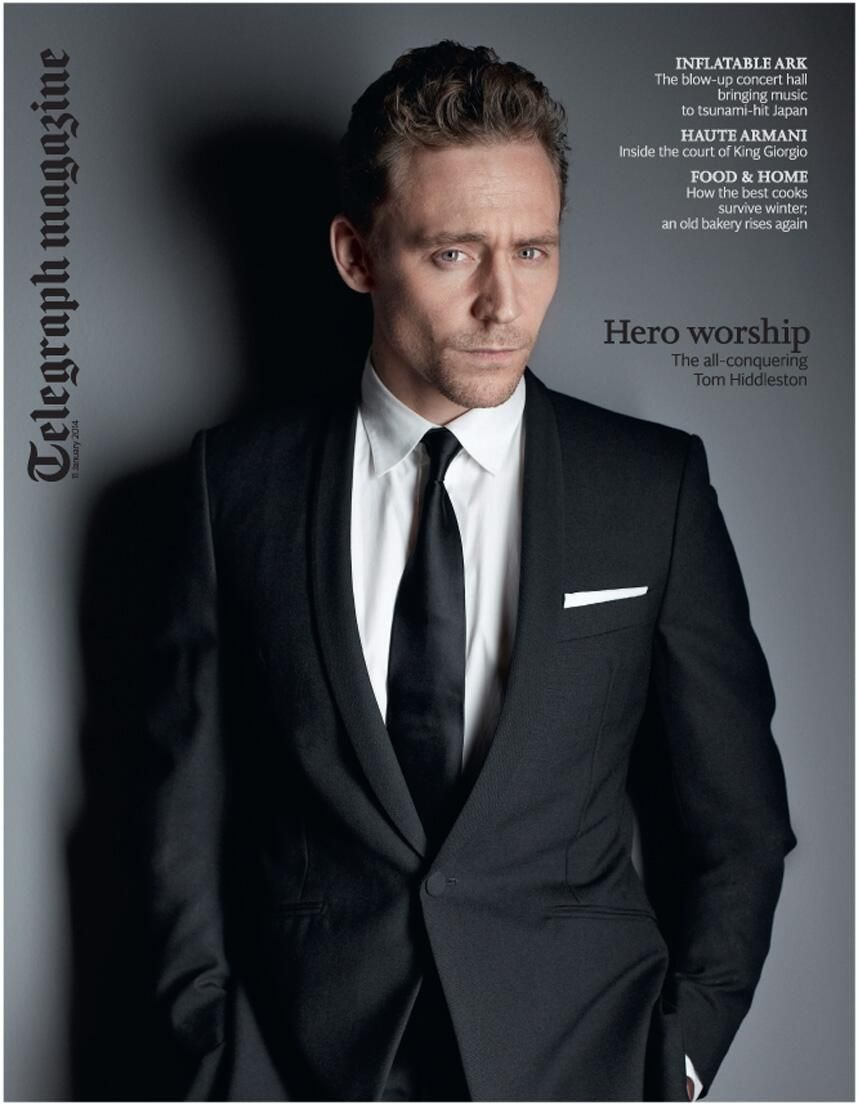 UK Telegraph Magazine January 2014: TOM HIDDLESTON Cover