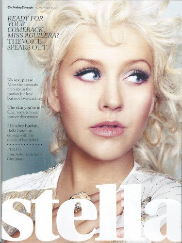 UK STELLA MAGAZINE NOVEMBER 2012: CHRISTINA AGUILERA COVER EXCLUSIVE