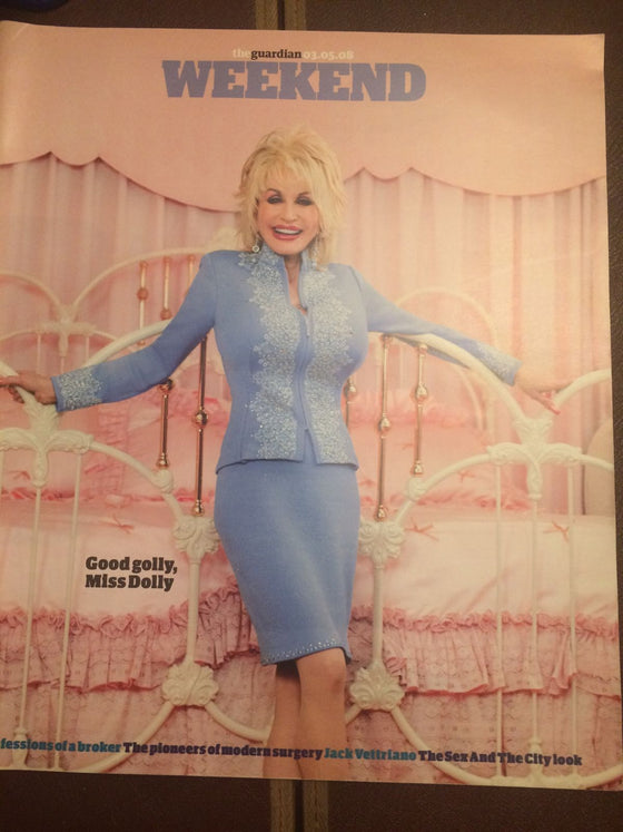 UK Guardian Weekend Magazine 2008 Dolly Parton UK Cover Interview