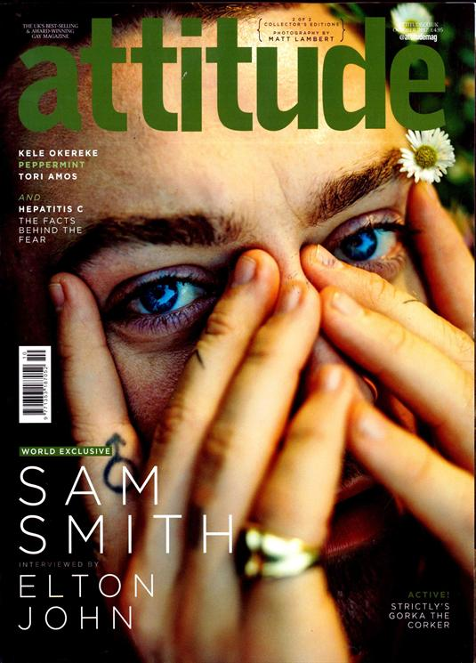 UK Attitude Magazine October 2017 Sam Smith Interview By Sir Elton John Cover 2