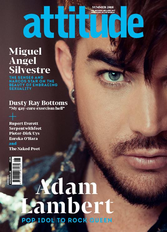 ATTITUDE MAGAZINE Issue # 297 2018 Adam Lambert Miguel Angel Silvestre