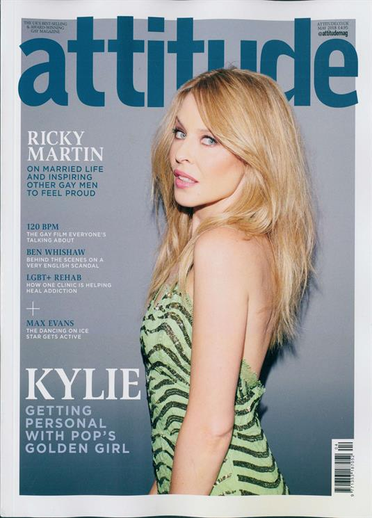 UK Attitude Magazine May 2018: KYLIE MINOGUE COVER EXCLUSIVE INTERVIEW