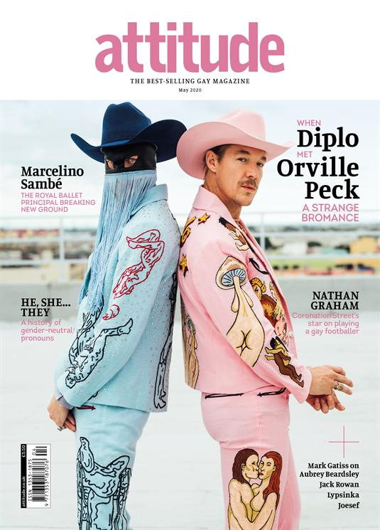 UK Attitude Magazine May 2020: Orville Peck & Diplo Cover