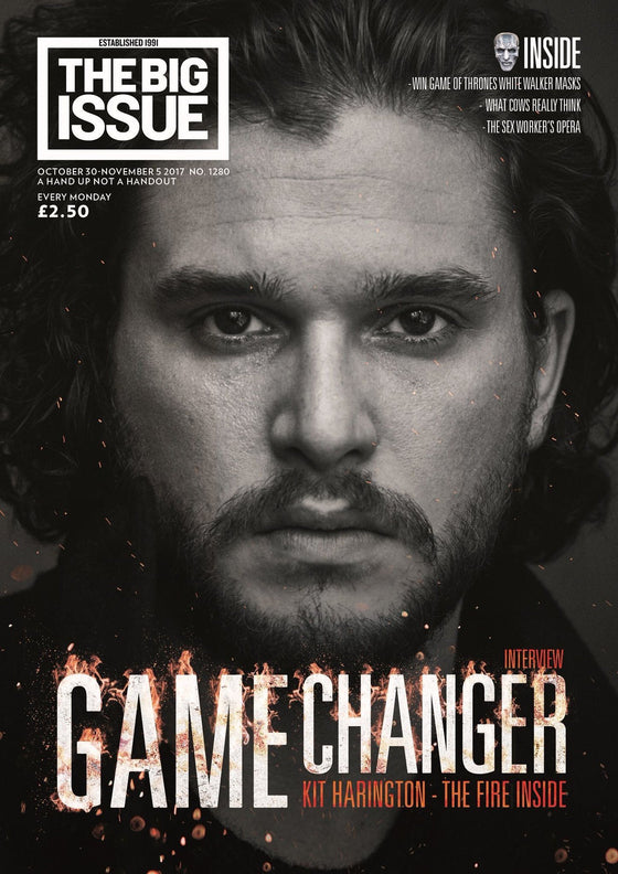 Kit Harington on the cover of Big Issue Magazine