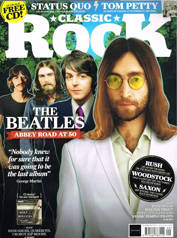 CLASSIC ROCK magazine Sept 2019 #266 The Beatles Abbey Road 50th anniversary + Free CD - Paul McCartney