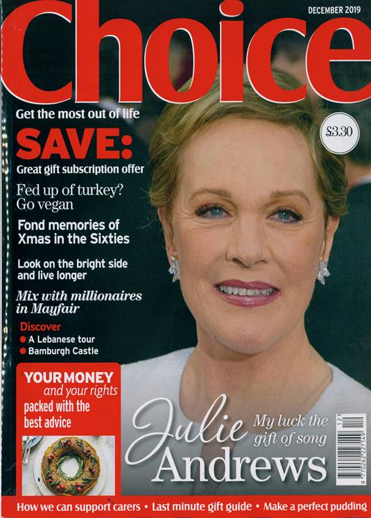 Choice Magazine December 2019: JULIE ANDREWS COVER STORY