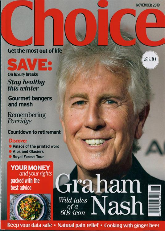 Choice Magazine November 2019: GRAHAM NASH COVER STORY