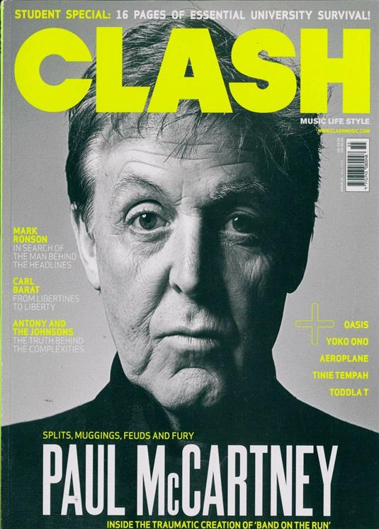 UK Clash Magazine Issue 55 Sir Paul McCartney The Beatles UK Cover Interview