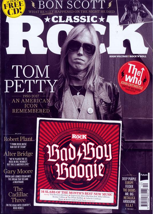 UK Classic Rock Magazine December 2017 Tom Petty - An American Icon Remembered