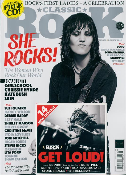 Classic Rock Magazine March 2018 Joan Jett KATE BUSH Joni Mitchell DEBORAH HARRY