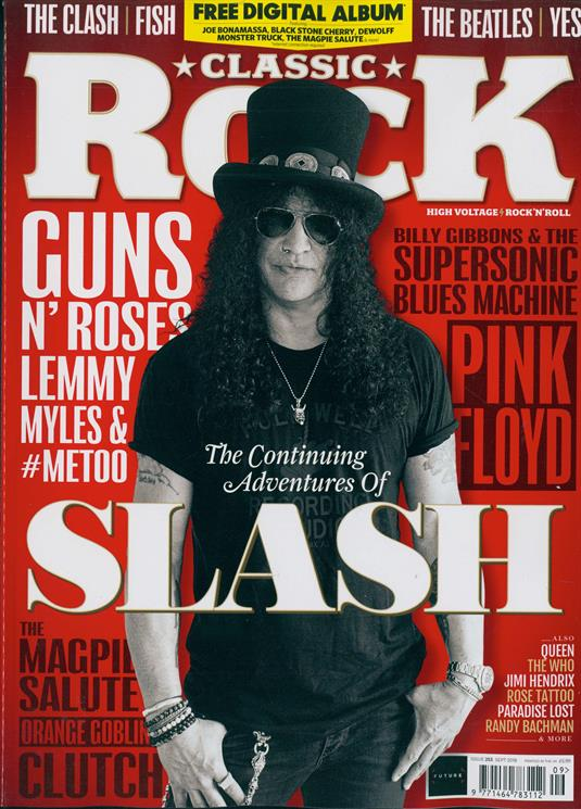 UK Classic Rock Magazine SEPT 2018: SLASH Guns N' Roses LEMMY Pink Floyd