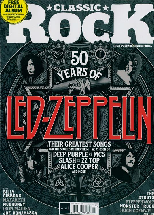 UK Classic Rock Magazine OCTOBER 2018: 50 Years Of LED ZEPPELIN Deep Purple Iron Maiden