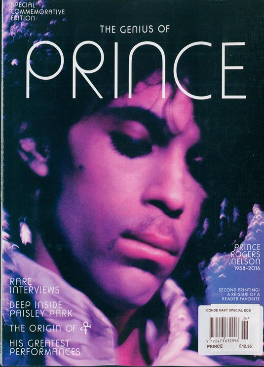Conde Nast Magazine 2019 Prince Rogers Nelson 1958-2016 GENIUS OF PRINCE