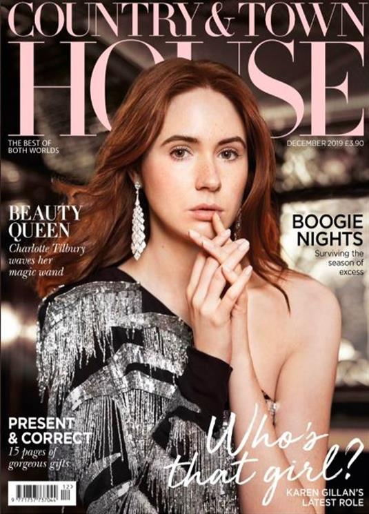 UK Country & Town House Magazine December 2019: KAREN GILLAN Gillian Anderson