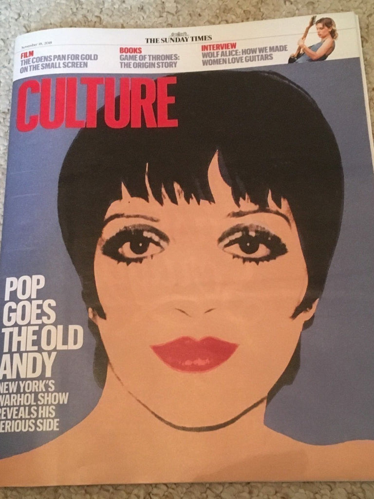 UK Culture Magazine November 2018: LIZA MINNELLI Alessandro Nivola WOLF ALICE